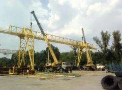 Repair and reconstruction of cranes of pavements,