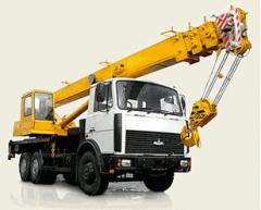 Rent of the truck crane