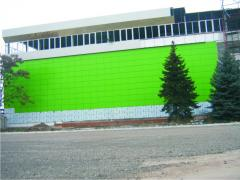 Covering of facades of AKP. Composite panels.