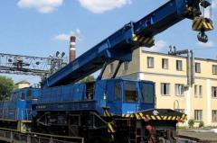 Overhaul of railway cranes