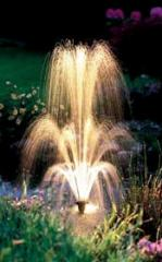 Creation of decorative fountains from a natural