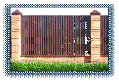 Full complete set of fences: otliva, parapets,