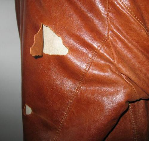 Ремонт курток из кожи
