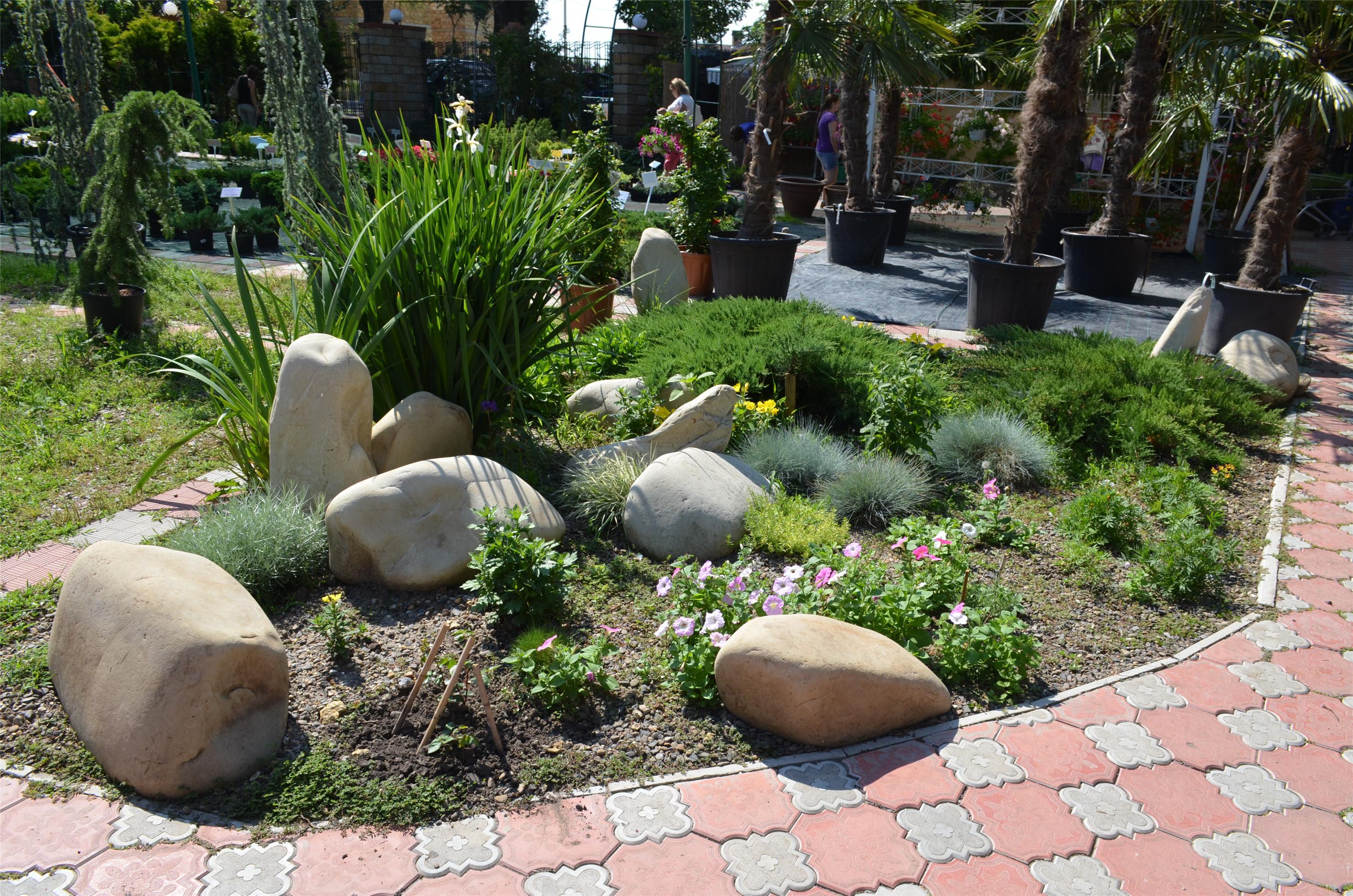 Ландшафтный дизайн камень