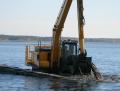 Земляные работы на болотах и открытой воде