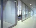 Installation of aluminum and all-glass partitions
