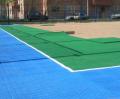 Строительство теннисных кортов.