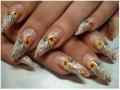 Наращивание ногтей: роспись, китайская роспись, лепка