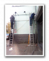 Advertizing on big-borda, prizmatrona, painted walls
