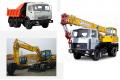 Rent of the truck crane, excavator, the dump truck, road equipment in Mariupol. Delivery across Ukraine.