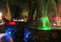Ландшафтное освещение с помощью светодиодного прожектора Color Fusion 3 (CF3), светодиодной линейки Color Fusion line (CFL), а так же точечных светодиодов