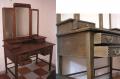 Реставрация стариной мебели, стол с зеркалами. Киев.
