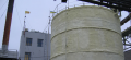 Warming by polyurethane foam of industrial capacities, tanks
