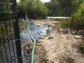 Очистка дна водоёма