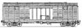 Перевозки грузовые крытыми вагонами - 4-осный цельнометаллический с уширенными дверными проемами, модель 11-217