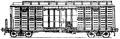 Перевозки грузовые крытыми вагонами - 4-осный с переходной площадкой и уширенными дверными проемами, модель11-264