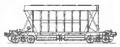 Перевозки грузовые крытыми вагонами - 4-осный хоппер для минеральных удобрений, модель 11-740