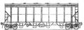 Перевозки грузовые крытыми вагонами - 4-осный для гранулированных полимеров, модель 17-495