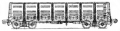 Перевозки грузовые 4-осным цельнометаллическим полувагоном, модель 12-1000