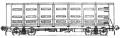 Перевозки грузовые 4-осным цельнометаллическим полувагоном с глухим кузовом, модель 12-1505