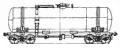 Перевозки грузовые 4-осной цистерной для бензина и светлых нефтепродуктов, модель 15-869