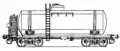 Freight transportation by the 4-axis tank for gasoline with a transitional site, model 15-1427