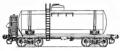 Перевозки грузовые 4-осной цистерной для бензина с переходной площадкой, модель 15-1427