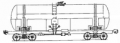 Freight transportation by the 4-axis tank for viscous oil products, model 15-1566