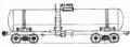 Перевозки грузовые 4-осной цистерной для серной кислоты, модель 15-1401