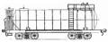 Перевозки грузовые 4-осной цистерной для олеума с переходной площадкой, модель 15-Ц857