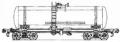 Перевозки грузовые 4-осной цистерной для слабой азотной кислоты, модель 15-1404