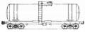 Перевозки грузовые 4-осной цистерной для соляной кислоты, модель 15-1554
