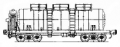 Freight transportation by the 4-axis tank for milk with a transitional site, model 15-Ts858