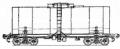 Перевозки грузовые 4-осной цистерной для виноматериалов, модель 15-1535