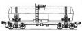 Перевозки грузовые 4-осной цистерной для жёлтого фосфора, модель 15-1412
