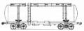 Перевозки грузовые 4-осной цистерной для кальцинированной соды, модель 15-884
