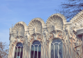 Production of front architectural elements from a steklofibrobeton, a polimerbeton, plaster, concrete, composite materials.