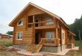 Строительство канадских домов из карпатского дикого сруба в Украине. Акция - 1350 грн. за м² по стене.