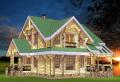 Строительство деревянных коттеджей по индивидуальным проектам из дикого сруба. Акция - 1350 грн. за м² по стене.