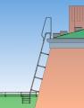 Установка и изготовление кровельных лестниц