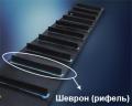 Шевронирование конвейерной ленты (рифление конвейерных лент)