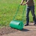 Подготовка земли под газон (планировка и каткование)