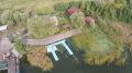 Стоянка моторных лодок для рыбалки на Киевском водохранилище