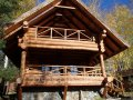 Production (cabin) construction of fellings, houses, baths, chalet, arbors, canopies and other wooden designs.