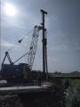 Погружение свай С14-35 при строительстве моста в Доброполье Донецкая область Украина
