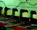 Cabin of sheet material