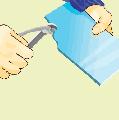 Отламывание куска плитки криволинейного очертания