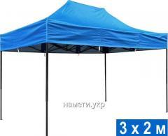 Раздвижной шатер 3х2 м усиленный каркас 2 купола
