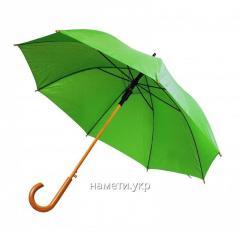 Зонт трость полуавтомат зеленый