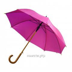 Зонт трость полуавтомат розовый